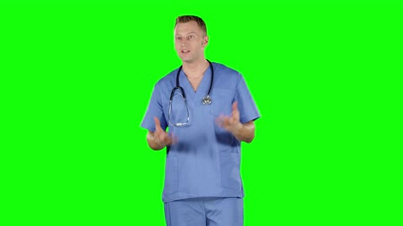 perverso : Aggressive disappointed doctor. Green screen