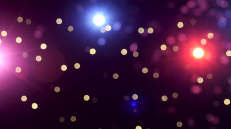 musicians stage : Background of Concert lights bokeh Stock Footage