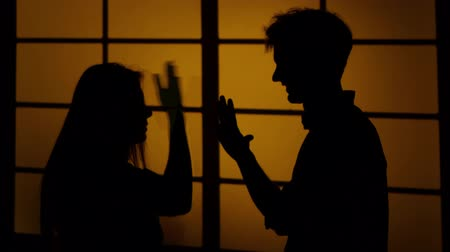 argumento : Relationship difficulties. Silhouette. Close up
