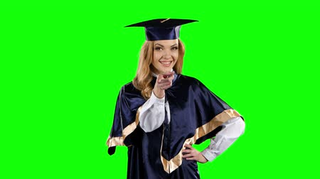 čepice : Graduate. Green screen