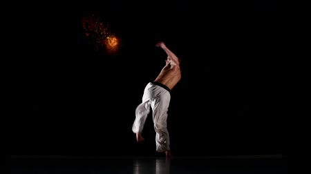 quimono : Karate Fighter With Burning Hit, Photo Manipulation, Square
