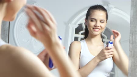 shaves : Girl shaves the epilator at her armpits, shes very happy