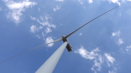 revitalizing : Wind turbine blades revitalizing power of the wind view from below. Close up