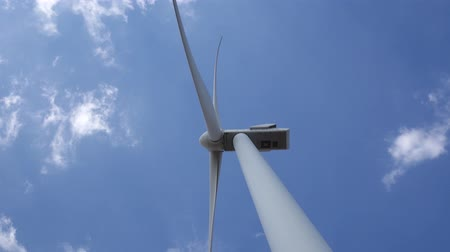 revitalizing : Wind turbine producing bioenergy using innovative technologies bottom view. Close up Stock Footage