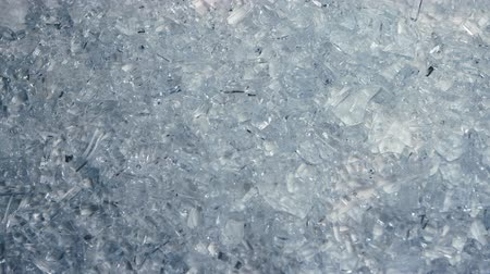 shattering : Broken glass lie on the table. Close up Stock Footage