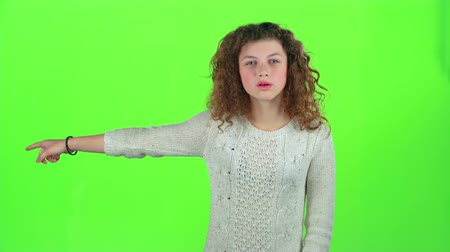 jitters : Baby screams for her bad mood, shes angry . Green screen Stock Footage