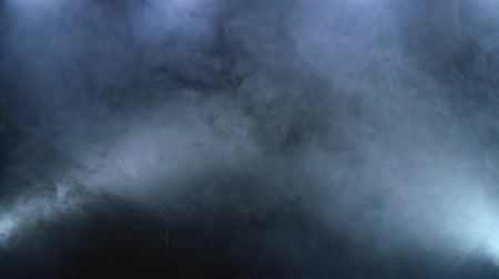 limpid : Abstract white spot light with smoke on black background Stock Footage