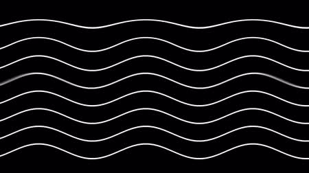 disguise : Graphic black background with flowing curved white lines
