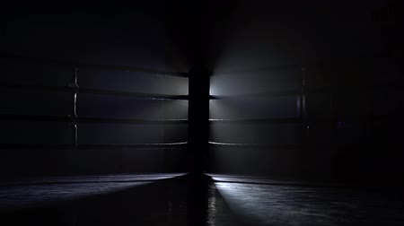 searchlight : Empty boxing sport ring