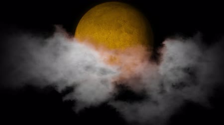 vassoura : Orange moon on the night sky background.