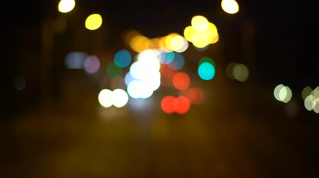 xenon lights : Abstract lights of night lights and traffic lights bokeh background
