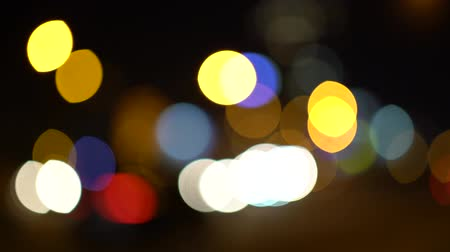 pedestrian crossing : Abstract lights night car traffic bokeh background