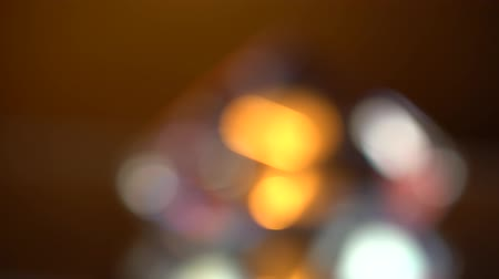 faceta : Abstract lights bokeh in red blue and orange. Black background