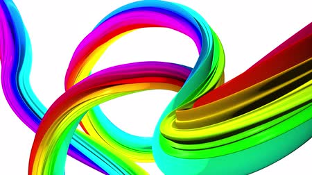 lacy : Moving colorful of abstract lines. White background