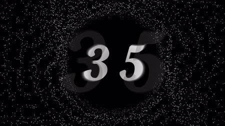 son teslim tarihi : Simple countdown from 60 to 1 white digits on the black background