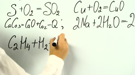 proveta : Chemistry formula on white board
