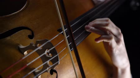 opus : Closeup of a girl playing the cello