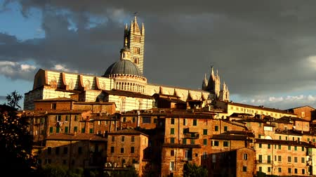 cielo : Siena view of the cathedral Stock Footage