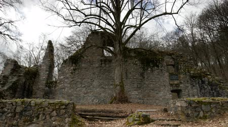 old times : A time lapse shot of the ruin Rodensteinstraße. Located in Germany near the the town Reich Elsheim in the Odenwald.