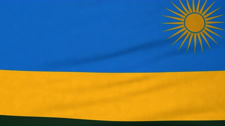 rwandan : National flag of Rwanda flying and waving on the wind. State symbol of Rwandan nation and government. Computer generated animation.
