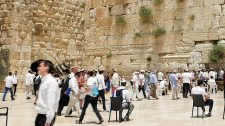 israelite : Jerusalem, Israel - May 25, 2017: Western Wall also known as Wailing Wall or Kotel in Jerusalem. The Western Wall is the most sacred place for all christians jews and jewish people in the world.