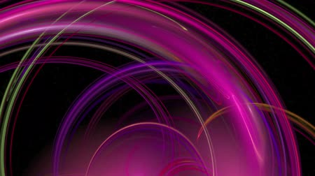 Red pink waves pattern abstract background seamless loop. Suitable for horizontal and vertical video format. Stok Video