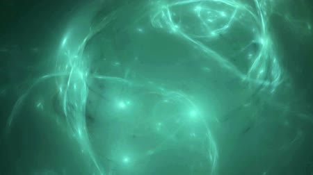 quantum computer : Green water nebula pattern abstract background seamless loop. Suitable for horizontal and vertical video format.