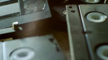 vcr : Scattered old tapes Stock Footage
