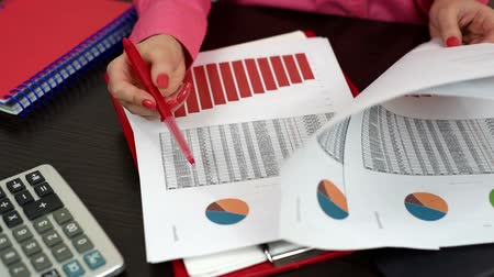 консалтинг : woman considering financial report and scheme