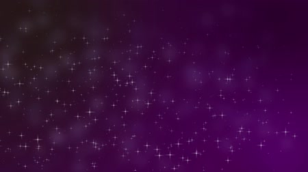 forgatás : a animated video of stars at various sizes shooting up against a purple and black background Stock mozgókép