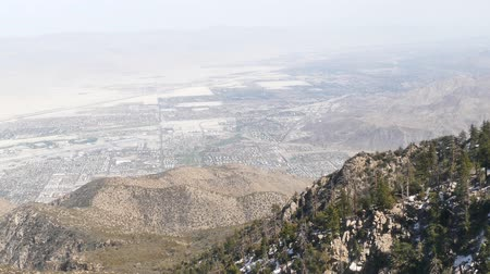 deserto : Video of Aerial view of Palm Springs city from top, California