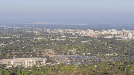 mísa : 4K Video of the beautiful Rose Bowl, Pasadena City hall and Pasadena downtown view from sunset  to twilight