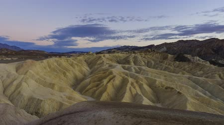 Калифорния : sunset timelapse from Zabriskie Point, Death Valley National Park, California