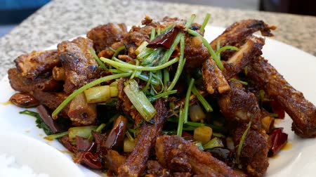 fried : Delicious chinese style fried lamb chops