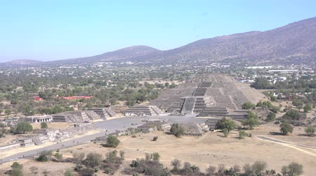 cdmx : Avenue of the Dead and Pyramid of the Moon in Teotihuacan, Mexico
