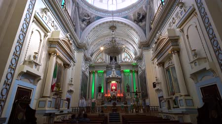 cdmx : Puebla, FEB 19: Interior pan view of a historical church on FEB 19, 2017 at Cholua, Puebla, Mexico