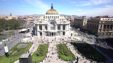 cdmx : Aerial view of the beautiful Fine Arts Palace (Palacio de Bellas Artes) of Mexico City, Mexico