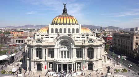 meksyk : Aerial view of the beautiful Fine Arts Palace (Palacio de Bellas Artes) of Mexico City, Mexico