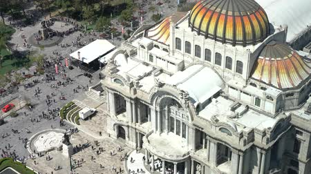 palacio real : Aerial view of the beautiful Fine Arts Palace (Palacio de Bellas Artes) of Mexico City, Mexico