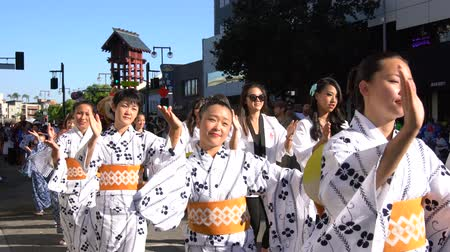quimono : Los Angeles, AUG 27: 4K Video of superb Nisei Week Festival closing ceremony on AUG 27, 2017 at Little Tokyo, Los Angeles, California, U.S.A.
