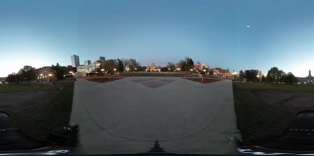 történelmi : 360 VR night view of the beautiful Civic Center Park at Denver, Colorado, United States