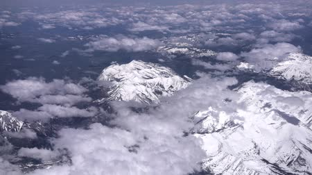 gray's : Aerial view of the snowy mountain, Grays Peak and Mount Evans, Colorado, United States Stock Footage