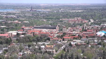 pedregulho : Aerial view of University of Colorado Boulder, United States Stock Footage