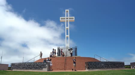 gedenksteen : San Diego, 29 juni: The Mt. Soledad National Veterans Memorial op JUN 29, 2018 in San Diego, Californië