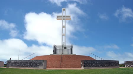 veterano : San Diego, JUN 29: The  Mt. Soledad National Veterans Memorial on JUN 29, 2018 at San Diego, California