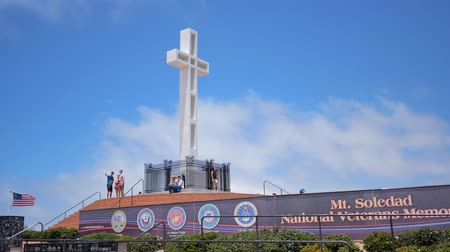 veterano : San Diego, JUN 29: The beautiful Mt. Soledad National Veterans Memorial on JUN 29, 2018 at San Diego, California
