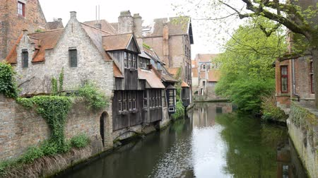 homály : Beautiful landscape around Bonifacius Bridge at Brugge, Belgium