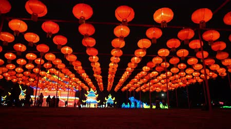 teljesítmény : Los Angeles, NOV 21: Beautiful colorful lantern of Moonlight Forest Festival on NOV 21, 2018 at Los Angeles