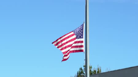remember : American flag flying at half-mast for Bushs memories at Los Angeles, California