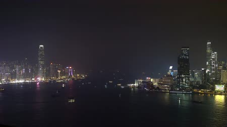 definice : Night view of the beautiful Victoria Harbor, Hong Kong